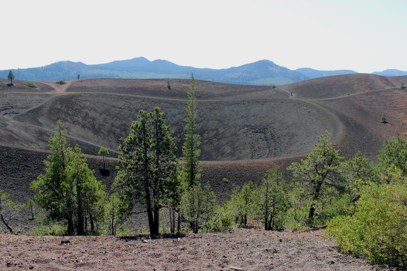 View of Cinder Cone from top