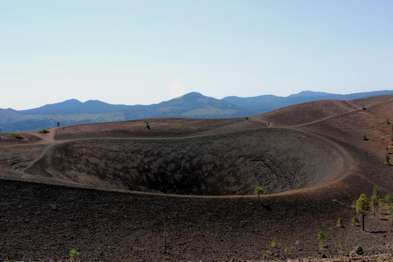 View of Cinder Cone along perimeter