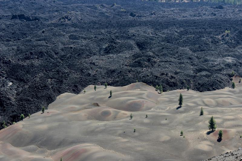 Painted Dunes seen from top of Cinder Cone