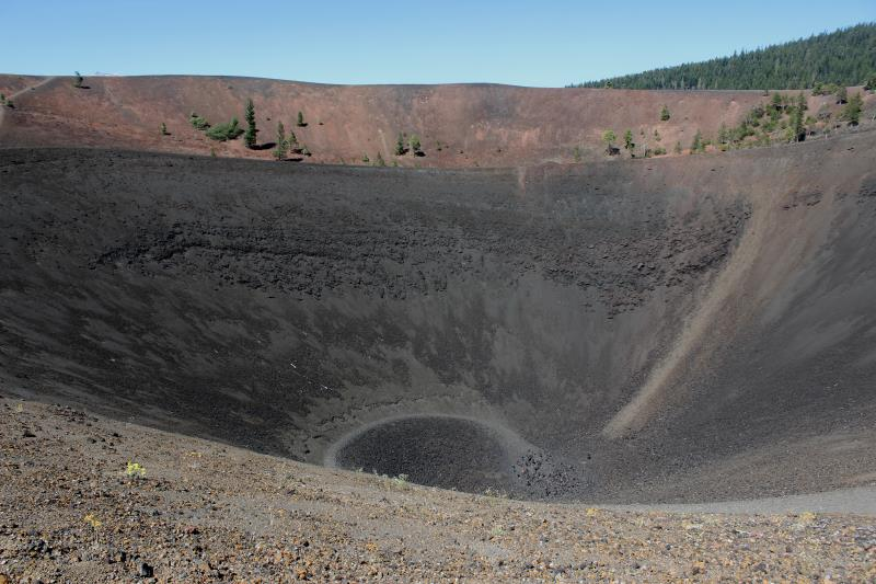 View descending into bottom of Cinder Cone