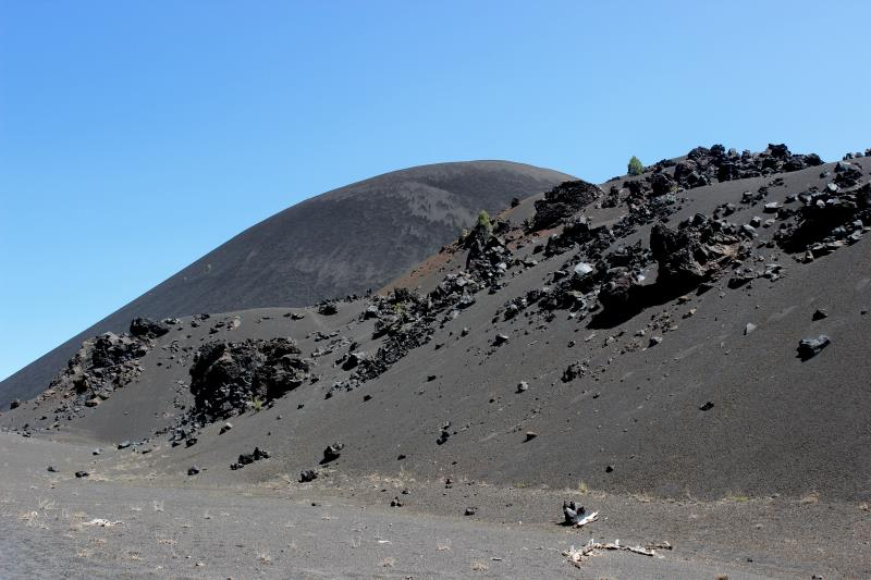 Cinder Cone seen looking backwards on way to Snag Lake